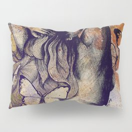 Sugar Coated Sour: Autumn (nude curvy pin up with butterflies) Pillow Sham