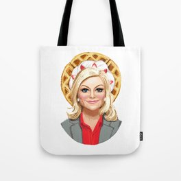 Leslie Knope, Goddess of Girl Power & Waffles Tote Bag