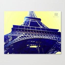 Eiffel Tower Pop Art Canvas Print