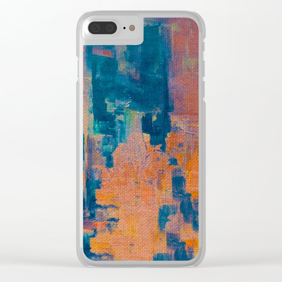 NY Under Orange Fog Clear iPhone Case