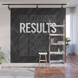 Results, No Excuses. Wall Mural