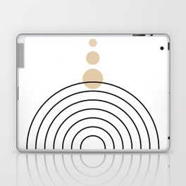 Mid Century Modern Geometric 35 (Rainbow and Rain, Black and Beige) Laptop & iPad Skin