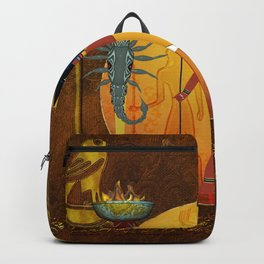 Anubis the egyptian god Backpack