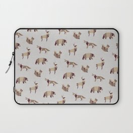 Folded Forest - Geometric Origami Animals Pattern Laptop Sleeve