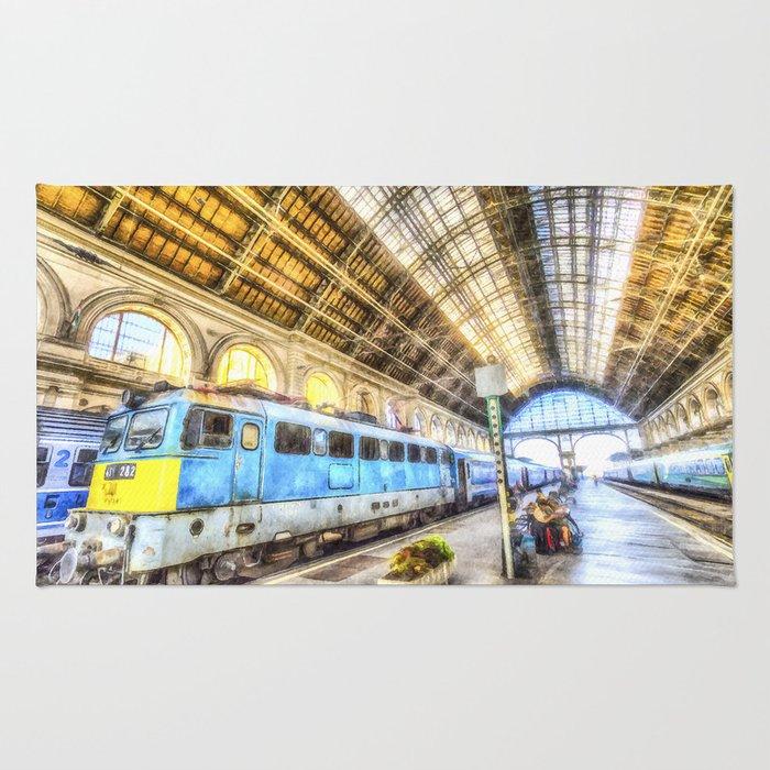 Keleti Railway Station Budapest Art Rug