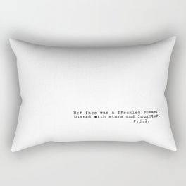 Typewriter Thoughts #4 - freckled summer Rectangular Pillow