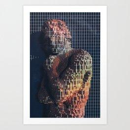 spartacus in voxel Art Print