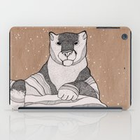 snow leopard iPad Cases featuring Snow Leopard by Diana Hope