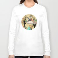 wolf Long Sleeve T-shirts featuring Found You There  by Sandra Dieckmann