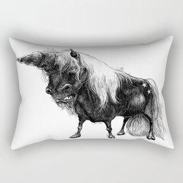 Angry Unicorn Rectangular Pillow
