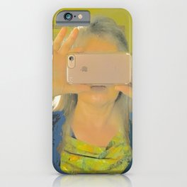 Pandemic Selfie, reflections on one's plight iPhone Case