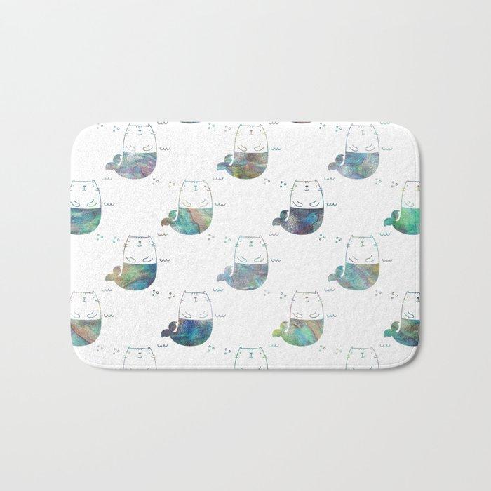 MerKitty Ocean Seashell Bath Mat