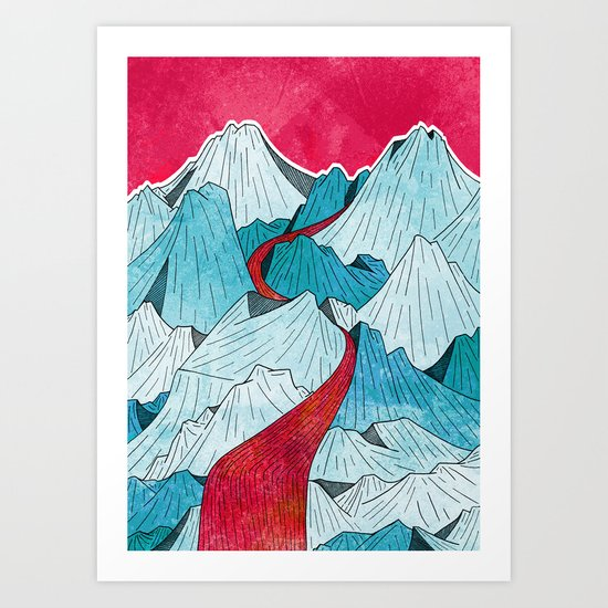 Red River In The Mountains Art Print