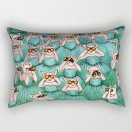 Watching, Waiting Rectangular Pillow