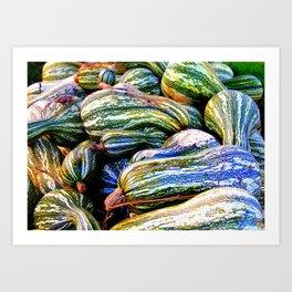 Green Striped Cushaw Art Print