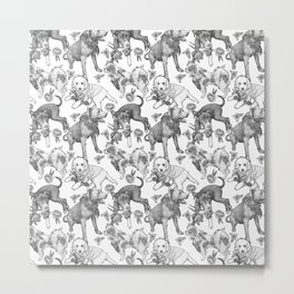 Fetching Florals Metal Print