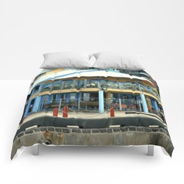The blue Restaurant Comforters