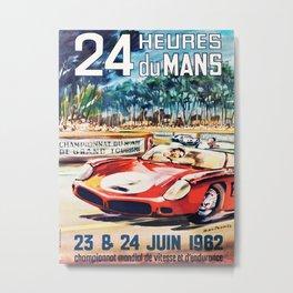 Le Mans poster, 1962, vintage poster, t-shirt, race poster Metal Print