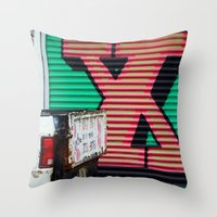 the xx Throw Pillows featuring XX by leaff