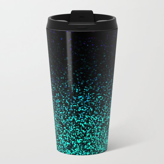 Mint Sparkle Metal Travel Mug
