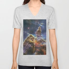 carina carina and her fuzzy psychedelia   space #12 Unisex V-Neck