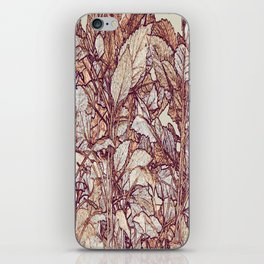 abstract camouflage leaves iPhone Skin