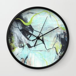 Tangled - Square Abstract Expressionism Wall Clock