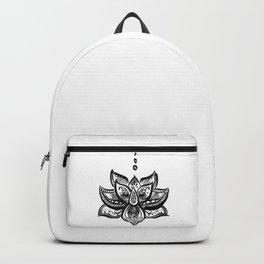 Lotus flower b/w Backpack