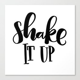 Shake It Up: white Canvas Print