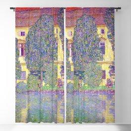 Gustav Klimt Schloss Kammer on the Attersee Blackout Curtain