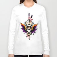 tatoo Long Sleeve T-shirts featuring Tatoo ART 7 by The Greedy Fox
