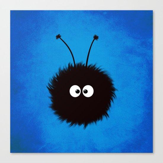 Blue Cute Dazzled Bug Canvas Print