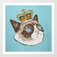 Grumpy King Art Print