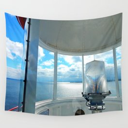 Souris Lighthouse View from the Top Wall Tapestry