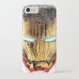 Iron Man Pointillism iPhone Case