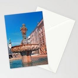 Naked boy bum on the water Stationery Cards