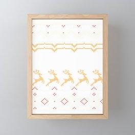 Grandma Ugly Christmas Sweater Design Gift  Framed Mini Art Print