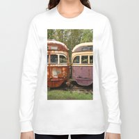 bender Long Sleeve T-shirts featuring Fender Bender by Michael G. Mitchener