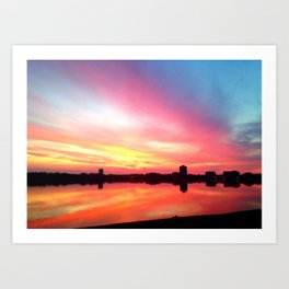 The Most Beautiful Sunset You've Ever Seen Art Print