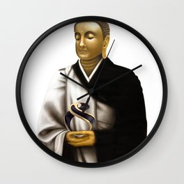 "SIDDHARTHA GAUTAMA Buddha      ""The Planet Earth Awards, Beyond Superstition"" Wall Clock"