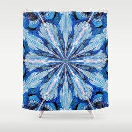 Blue Snowflake Shower Curtain