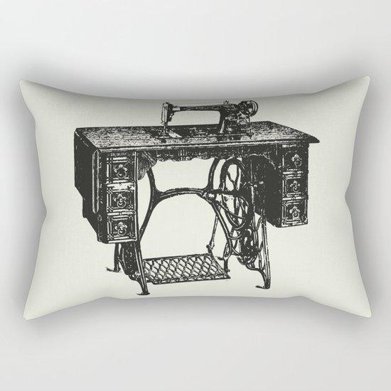 Singer sewing machine Rectangular Pillow