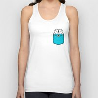 pocket Tank Tops featuring Pocket Polar by Steven Toang