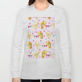 yellow and pink little teddies Long Sleeve T-shirt