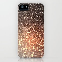 Tortilla brown Glitter effect - Sparkle and Glamour iPhone Case