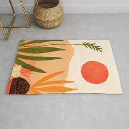 Golden California / Desert Landscape Illustration Rug