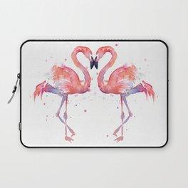 Pink Flamingo Love Two Flamingos Laptop Sleeve
