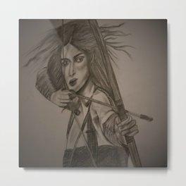 women doing archery Metal Print