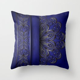 Silver ornament decoration Throw Pillow