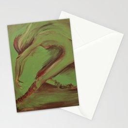 Dancer green Stationery Cards